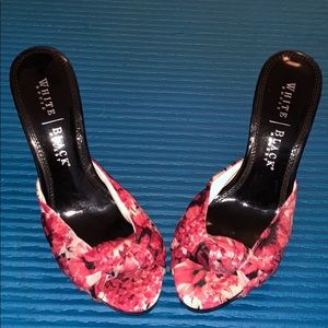 White House Black Market floral heels